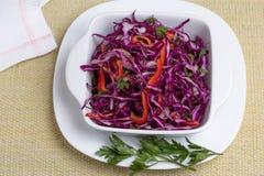 Czerwona kapuściana sałatka z warzywami Obraz Stock