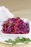 Czerwona kapuściana sałatka z warzywami Obrazy Stock