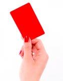 Czerwona kartka obrazy royalty free