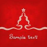 Czerwona kartka bożonarodzeniowa ilustracji