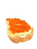 czerwona kawior kanapka Zdjęcia Stock