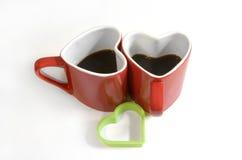 Czerwona kierowa filiżanka coffe zdjęcie stock