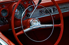 czerwona kierownicy Zdjęcia Stock