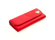 Czerwona kiesa z łańcuchem Fotografia Stock