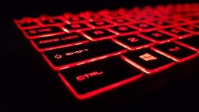 Czerwona klawiatura obraz stock