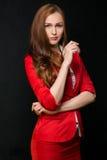 czerwona kobieta Obrazy Stock