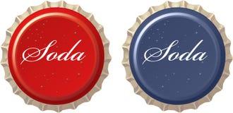 Czerwona koli butelki nakrętka Zdjęcie Stock