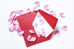 Czerwona koperta fotografia stock