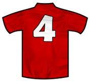 Czerwona koszula cztery Obraz Stock