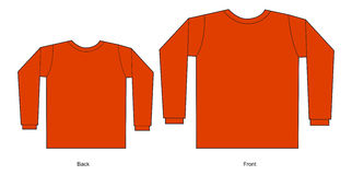 czerwona koszula t obraz stock