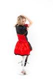 Czerwona królowa cosplay - ładna młoda kobieta Obrazy Royalty Free