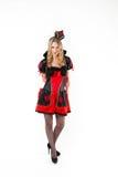 Czerwona królowa cosplay - ładna młoda kobieta Zdjęcie Stock