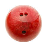 Czerwona kręgle piłka zdjęcia royalty free