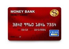 Czerwona Kredytowa karta ilustracji