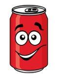 Czerwona kreskówki soda lub miękki napój możemy Obrazy Stock