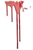 Czerwona kropla odizolowywająca krew fotografia royalty free