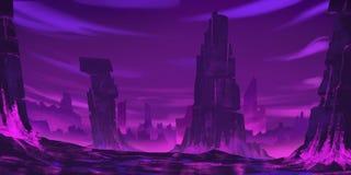 Czerwona Krystaliczna góra Beletrystyczny tło Pojęcie sztuka realistyczna ballons ilustracja ilustracja wektor
