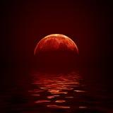 Czerwona księżyc Obraz Stock