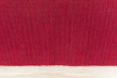 Czerwona kuchenna tkaniny pielucha z lampasami - tła mockup z Zdjęcie Royalty Free