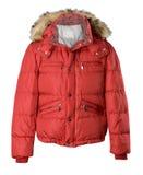 Czerwona kurtka odizolowywająca Fotografia Stock