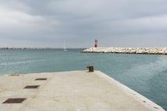 Czerwona latarnia morska Zdjęcie Royalty Free