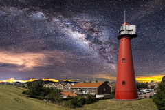 Czerwona latarnia morska Obraz Royalty Free