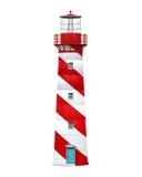 Czerwona latarnia morska Odizolowywająca ilustracja wektor