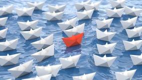 Czerwona lider łódź royalty ilustracja