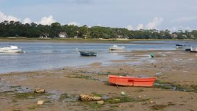 Czerwona mała łódka zdjęcie royalty free