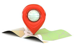 Czerwona mapa pointeru ikona Fotografia Royalty Free