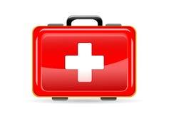 Czerwona medyczna torba Zdjęcia Royalty Free