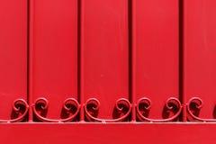 Czerwona metalu drzwi tekstura Fotografia Stock