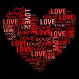 Czerwona miłość Zdjęcia Royalty Free