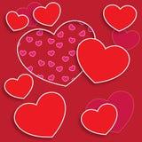 Czerwona miłości pocztówka Obrazy Royalty Free