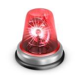 Czerwona migacz ikona. Odizolowywający na bielu Obraz Royalty Free