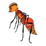 Czerwona mrówka royalty ilustracja