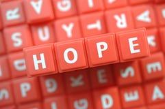Czerwona nadzieja   Zdjęcie Stock
