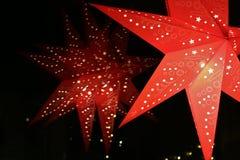 Czerwona nastanie gwiazda zdjęcie royalty free