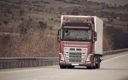 Czerwona Nowa ciężarówka obraz royalty free