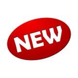 Czerwona Nowa guzik ikona Zdjęcie Royalty Free
