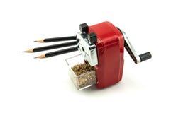 Czerwona ołówkowa ostrzarka Zdjęcie Royalty Free