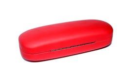 Czerwona okularowa skrzynka dla szkieł Fotografia Royalty Free