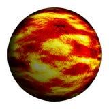 Czerwona oparzenie planeta odizolowywał ścinek ścieżkę i dodaje royalty ilustracja