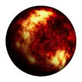 Czerwona oparzenie planeta odizolowywał ścinek ścieżkę i dodaje ilustracji