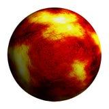 Czerwona oparzenie planeta odizolowywał ścinek ścieżkę i dodaje ilustracja wektor