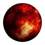 Czerwona oparzenie planeta odizolowywa? ?cinek ?cie?k? i dodaje royalty ilustracja
