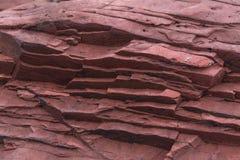 Czerwona osadowa skała. Wieszający Shek Mun, Hong Kong Zdjęcia Stock