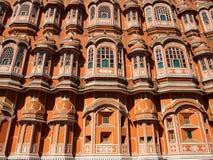 Czerwona pałac fasada India zdjęcia stock