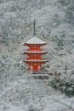 Czerwona pagoda przy Kiyomizu-dera świątynią Zdjęcia Royalty Free