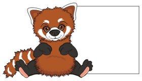 Czerwona panda i czyści przedmiot Zdjęcie Royalty Free